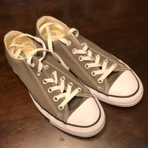 Like new worn twice converse size 8.5 gray